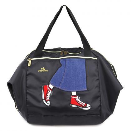 ロングスカート買い物カゴバッグ