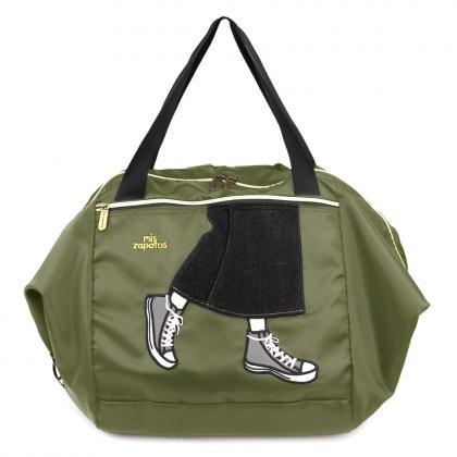 B-6896 ロングスカート買い物カゴバッグ
