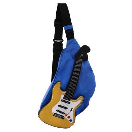 エレキギターウエストバッグ ブルー