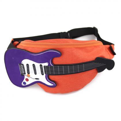 エレキギターウエストバッグ(オレンジ)